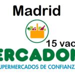 PERSONAL DE SUPERMERCADO para fin de semana en Madrid Centro