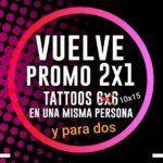 Promoción tattoo 2×1