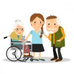 cuidadora de mayores o niños