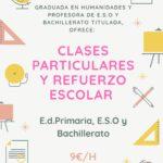 CLASES PARTICULARES PRIMARIA, E.S.O. Y BACHILLERATO EN VILANOVA I LA GELTRÚ