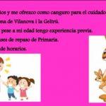 CANGURO para NIÑOS en Vilanova i la Geltrú
