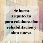 Se necesita arquitecto para colaboración