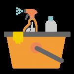 Limpieza y cuidado de niños y abuelos