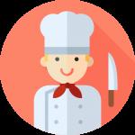 Ayudante de cocina y atención al cliente