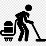 limpieza piso vacio