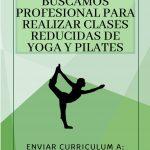 Buscamos profesional para pilates o yoga