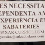 Se busca dependienta para zapateria