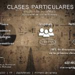 Ofrezco clases particulares de Física, Matemáticas y Química nivel bachillerato e inferior